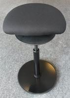 Zit Sta kruk Amazone STIT met ergotop zwart met zwart frame