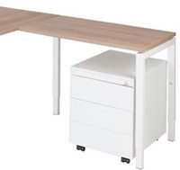 Aanbouwtafel serie 55 80X60cm hoogte instelbaar 62-86cm