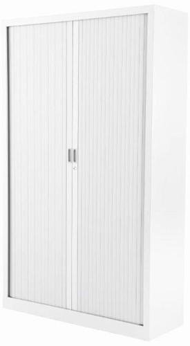 Roldeurkast budget 198X120X43cm inclusief vier legborden wit