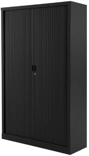 Roldeurkast budget 198X120X43cm inclusief vier legborden zwart