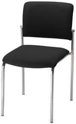 Bezoekersstoel serie 15 zwart
