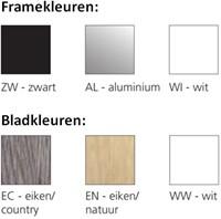 Opstelling tafel serie 50 180X80cm inclusief aanbouwblad ladenblok en bureaustoel serie 10 -3