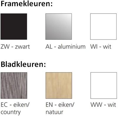 Opstelling tafel serie 55 180X80cm inclusief aanbouwblad en ladenblok-3