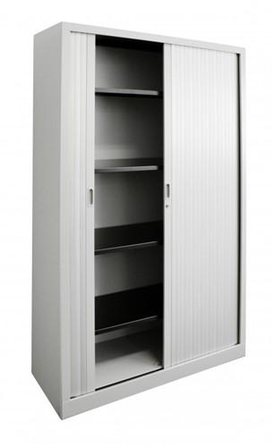 Roldeurkast budget 198X120X43cm inclusief vier legborden wit-2
