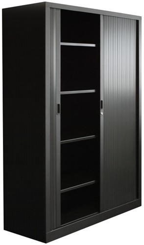 Roldeurkast budget 198X120X43cm inclusief vier legborden zwart-2