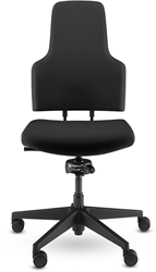 Bureaustoel ONE by SPINDL voor dynamisch zitten, geheel zwart