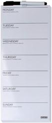 Planbord week Desq 15x35cm randloos + marker magnetisch