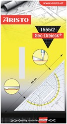 Geodriehoek Aristo 1555/2 225mm met greep transparant