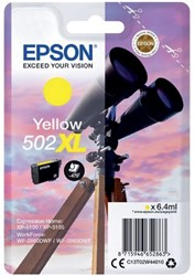 Inktcartridge Epson 502XL T02W4 geel HC