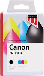 Inkcartridge Quantore Canon PG-1500XL zwart + 3 kleuren HC
