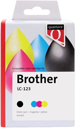 Inktcartridge Quantore Brother LC-123 zwart + 3 kleuren