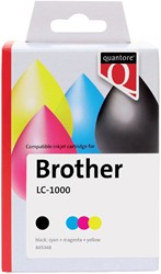 Inktcartridge Quantore Brother LC-1000 zwart + 3 kleuren
