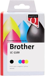 Inktcartridge Quantore Brother LC-1100 zwart + 3 kleuren