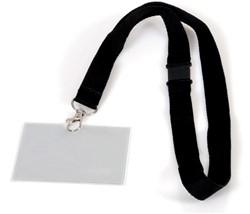 Badge pashouder Opus 2 met koord 60x90mm