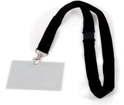 Badge pashouder Opus 2 met koord 90x60mm