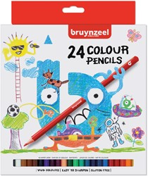 Kleurpotloden Bruynzeel Kids blister à 24 stuks assorti