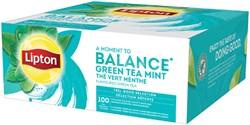 Thee Lipton Balance Green tea mint 100stuks