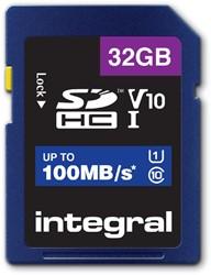 Geheugenkaart Integral SDHC V10 32GB