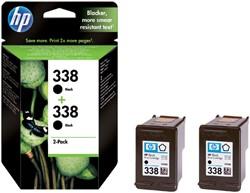 Inktcartridge HP C8765EE 338 zwart 2x