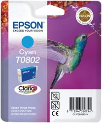 Inktcartridge Epson T0802 blauw
