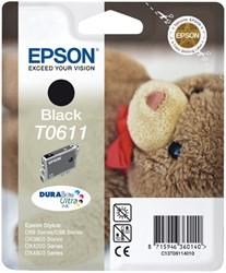 Inktcartridge Epson T0611 zwart