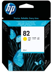 Inkcartridge HP CH568A 82 geel