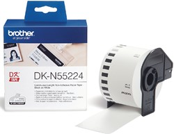 Etiket Brother DK-N55224 54mm 30-meter wit papier niet kleef