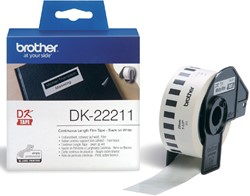 Etiket Brother DK-22211 29mm 15-meter witte film