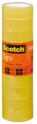 Plakband Scotch 508 15mmx10m transparant krimp 10rollen