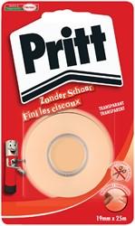 Plakband Pritt 19mmx25m tape zonder schaar