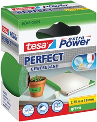 Plakband Tesa textiel 38mmx2.75m groen