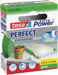 Plakband Tesa textiel 19mmx2.75m groen