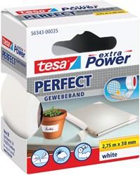 Plakband Tesa textiel 38mmx2.75m wit