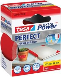 Plakband Tesa textiel 38mmx2.75m rood