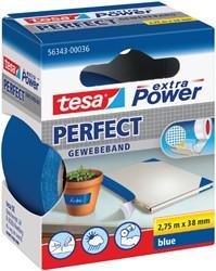 Plakband Tesa textiel 38mmx2.75m blauw