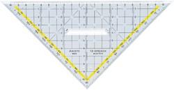Geodriehoek Aristo 1650/2 225mm met greep transparant