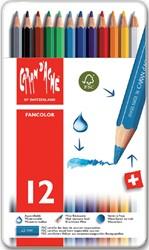 Kleurpotloden Caran d'Ache Fancolor 12stuks assorti