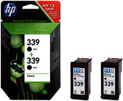 Inktcartridge HP C9504EE 339 zwart 2x