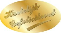 Etiket Haza hartelijk gefeliciteerd goud