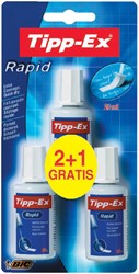 Correctievloeistof Tipp-ex Rapid 20ml foam 2+1gratis blister