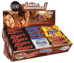 Candy box 15xMars-15xSnickers-8xTwix-6xMM-7xFreedent