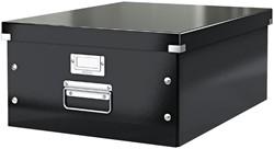 Opbergbox Leitz WOW Click & Store 369x200x482mm zwart