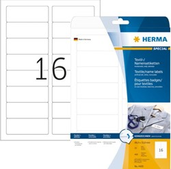 Badge etiket Herma 4420 bedrukbaar 88.9x33.8mm wit 400st