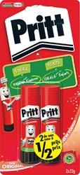 Lijmstift Pritt 22gr op blister 2e halve prijs blister à 2 stuks