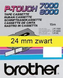 Labeltape Brother P-touch TX-651 24mm zwart op geel