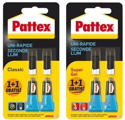 Secondelijm Pattex Classic + supergel tube 3gram op blister