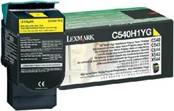 Tonercartridge Lexmark C540H1YG prebate geel HC
