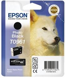 Inkcartridge Epson T0961 foto zwart