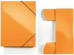 Elastomap Leitz WOW 3-kleps A4 karton oranje