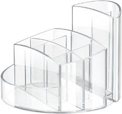 Pennenkoker Han Rondo 9-vaks transparant